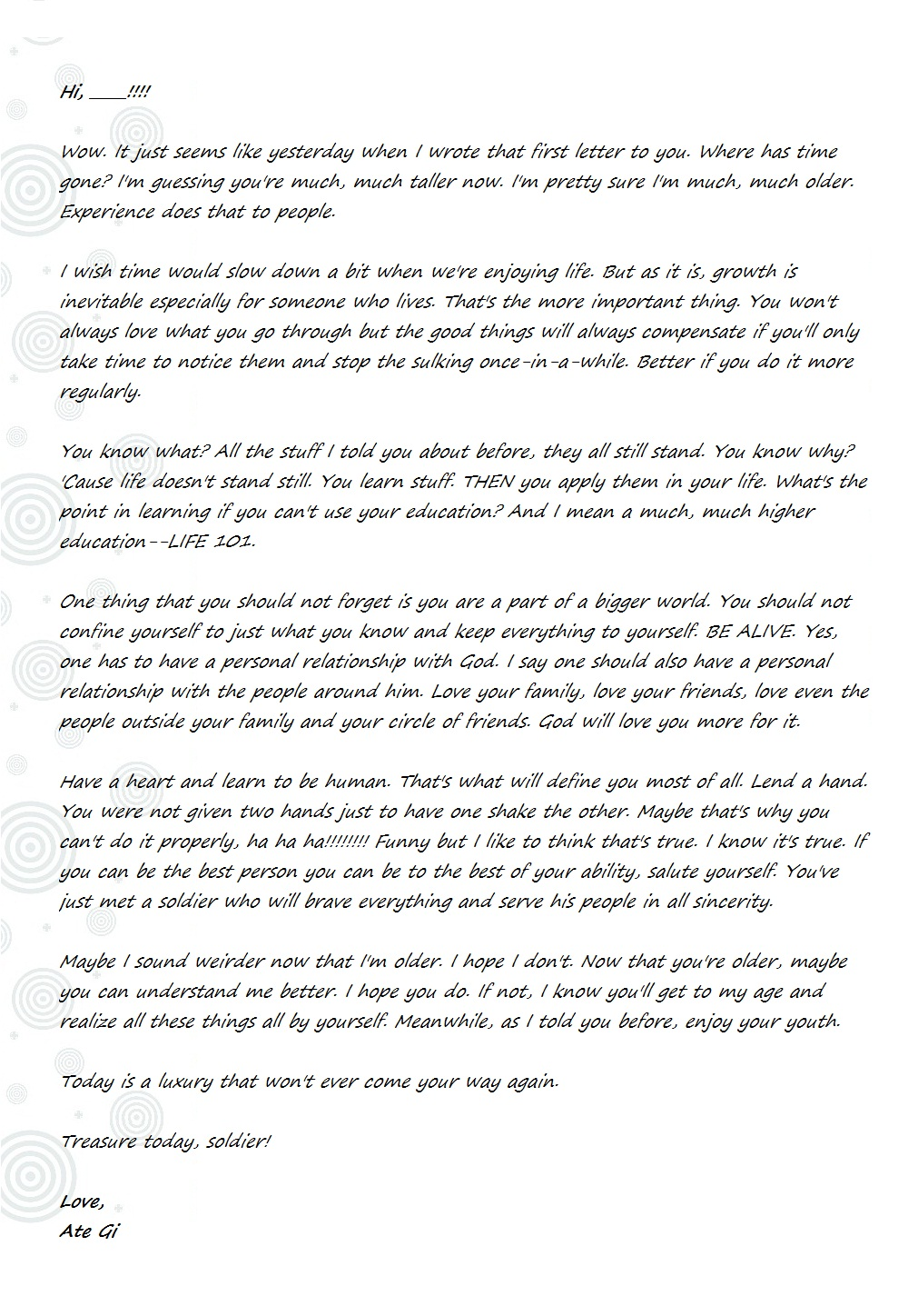 Retreat letter the end justifies the journey advice to a young lad 2 altavistaventures Choice Image