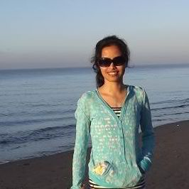 Beth enjoying at the beach