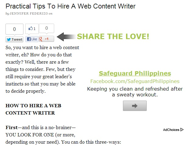 ... of Work and Content Writing Samples by World Web Content Writers