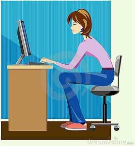 female-writer-typing