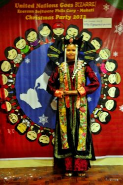 If this reminds you of Queen Amidala, that's because the inspiration for her costume was the Mongolian traditional garment for noble women. This girl made this whole thing by herself and her win was well-deserved. Okay, maybe she won't mind really mind me posting this. She's the Skuld of 2011's party