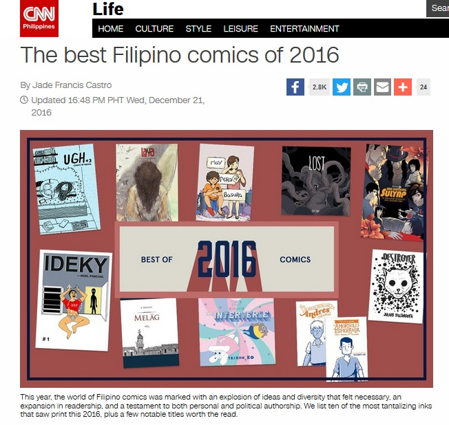 Best Filipino Comics 2016